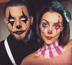 Clown makeup. Clown costume. Clown couple.circus makeup ...
