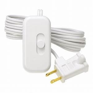 Lutron credenza 300 watt plug in lamp dimmer white tt for Floor lamp dimmer switch home depot