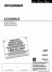 Sylvania Lc320slx User Manual Lcd Television Manuals And