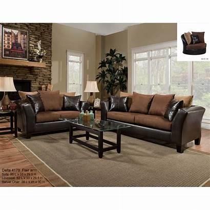 Sofa Loveseat Furniture Chocolate Living Sierra Delta