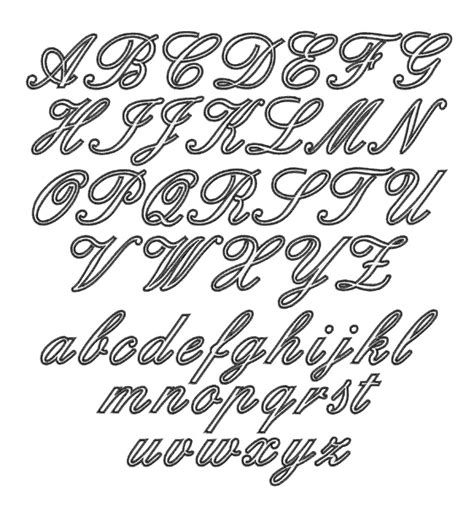 home format fonts embroidery font outline script font from embroidery patterns