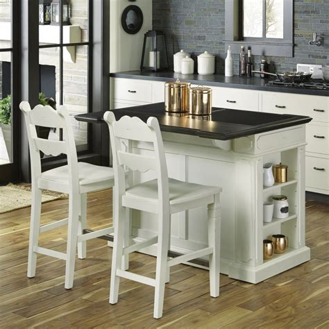 fiesta granite top kitchen island   stools home styles