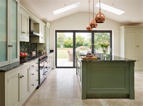 canterbury  vision  green contemporary kitchen