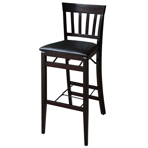 linon triena 24 quot mission back wood folding counter stool