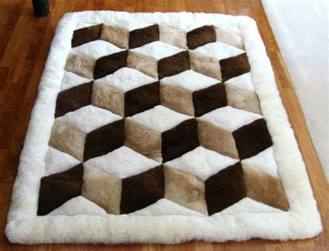 optical illusion area rugs check   patterns