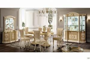 Sejour Pas Cher : caesar laque ivoire et dore ensemble sejour salle a manger ~ Carolinahurricanesstore.com Idées de Décoration