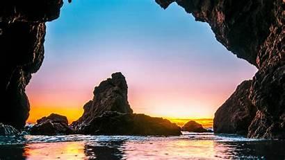 Sea Cave Stones Tide 1080p 4k Background