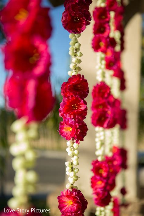 hanging bouquet floral and decor in sacramento ca indian wedding by