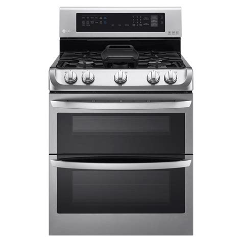 lg electronics 6 9 cu ft oven gas range with probake convection oven self clean and
