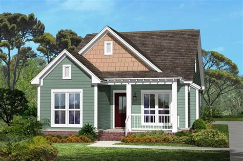 Narrow Craftsman Home Plan