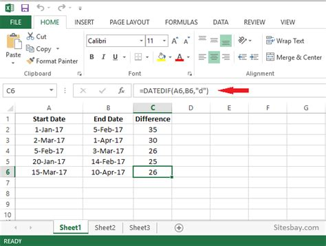 calculate difference excel excel
