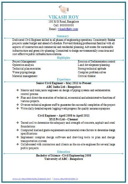 civil engineering resume doc 1 career