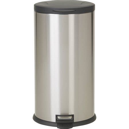 walmart kitchen garbage cans better homes gardens 7 9 gallon oval stainless steel