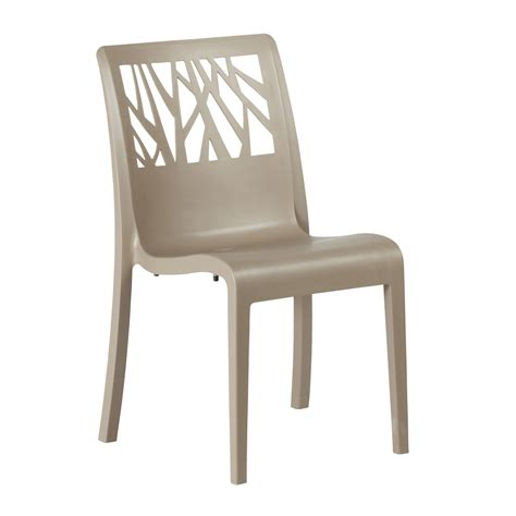 chaise couleur taupe chaise de jardin vegetal grosfillex