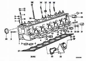 Original Parts For E34 524td M21 Sedan    Engine   Cylinder Head