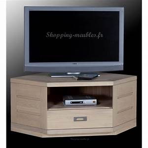 Meuble Tv Hifi : meuble tv hifi d 39 angle en ch ne massif hossegor ~ Teatrodelosmanantiales.com Idées de Décoration