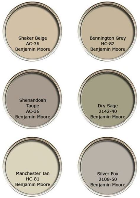 benjamin neutral color palette clemson house