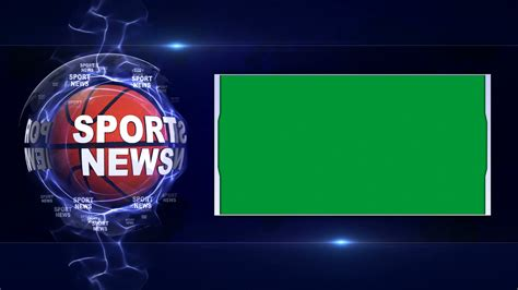 News Sports by Sport News Text Animation Sports Balls And Green Screen