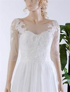 illusion tulle alencon lace wedding jacket wj036 With lace jacket for wedding dress