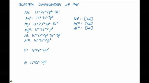 what type of electron is available to form bonds 6 8 electron configurations of ions youtube