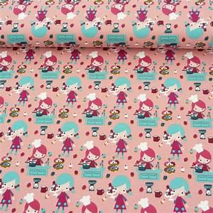 Jersey Stoffe Kinder : jersey stoff b ckerei rosa bunt stoffe stoffe gemustert kinderstoffe ~ Markanthonyermac.com Haus und Dekorationen