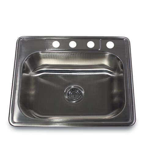 25 Inch Kitchen Sink by Stainless Steel 25 Inch Self 4 Single Bowl