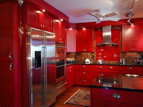 perfect red country kitchen cabinet design ideas for painting kitchen cabinets pictures options tips ideas