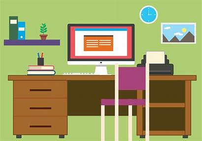 Office Vector Business Illustration Clipart System Vectors