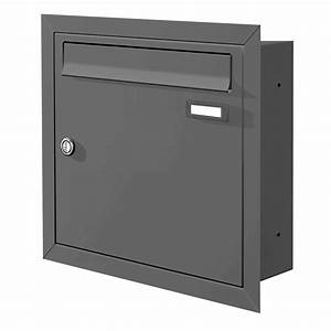 Max knobloch unterputz briefkasten anthrazit ral 7016 12 for Briefkasten max knobloch