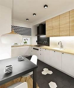 Küche 2 70 M : kleine k che in schwarz wei und holz mit essbereich k che pinterest schwarz wei holz ~ Bigdaddyawards.com Haus und Dekorationen