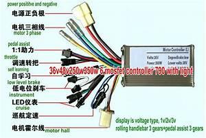 2019 24v36v48v250w 1000w Controller And Led Display For