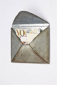 Welded letter holder anthropologiecom for the home for Metal envelope letter holder