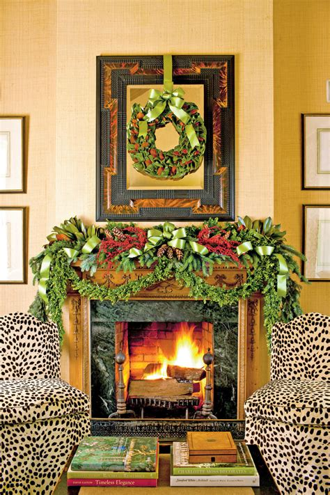 decorating a mantel for christmas mantel decorating ideas southern living