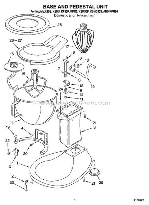 Kitchenaid Ksmc Parts List Diagram