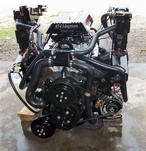 Complete Drop In Engine Mercruiser 454 7 4 Chevy Bravo 1   0d830086 Free Shiping
