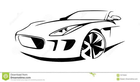 Sports Car Silhouette Vector Stock Vector