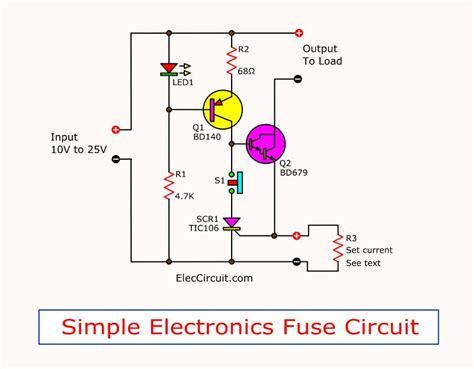 Simple Electronic Fuse Circuit Eleccircuit