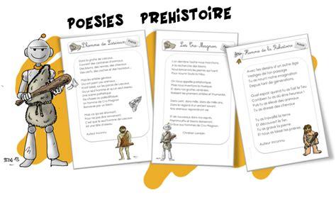 poesies la prehistoire bout de gomme