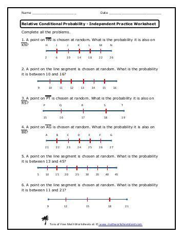 using two way tables independent practice worksheet math
