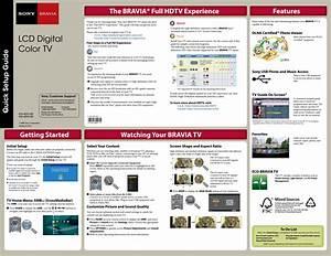 Sony Kdl 46vl160 40vl160  Kdl User Manual Quick Setup Guide