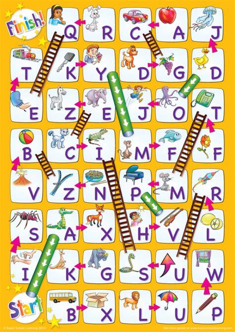 uppercase alphabet chutes ladders game super simple