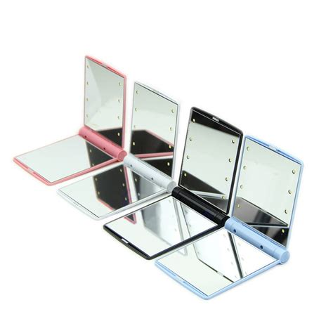 portable makeup mirror with lights 1 piece led make up mirror cosmetic folding portable