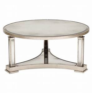 tully hollywood regency silver antique mirror round coffee With mirrored circle coffee table