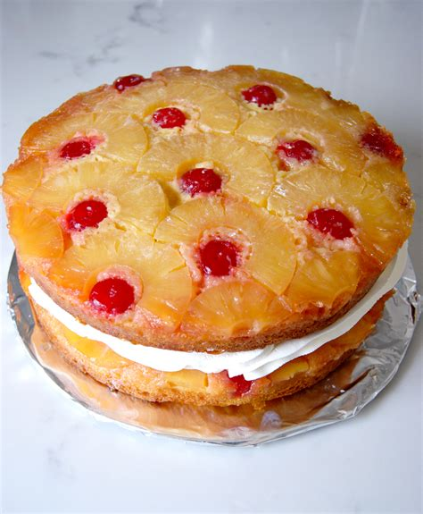Super Easy Layered Pineapple Upside-Down Cake - Lady of ...