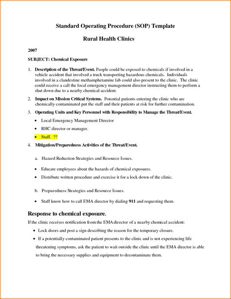 proc template 11 standard operating procedure template word authorizationletters org