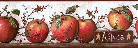 country apples peel and stick wall decals wallpaper border wallpaper inc com