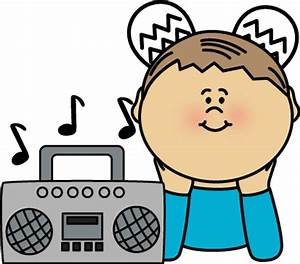 Boy Listening to Radio Clip Art - Boy Listening to Radio Image