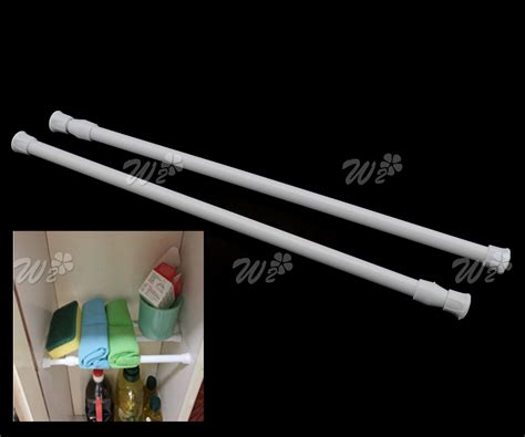 spring loaded net rod voile curtain rail extendable