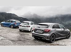 Comparison BMW M135i vs MercedesBenz A45 AMG vs Audi S3