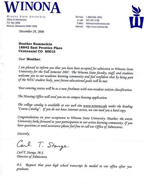 wsu acceptance letter rummelein s